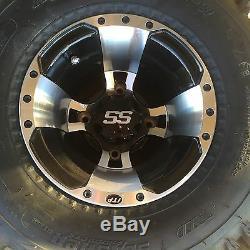 10 SET 4 YAMAHA BANSHEE 350 MACHINED ITP SS112 Rims & Slasher Tires Wheels kit