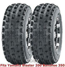 (2) 21x7-10 21x7x10 Yamaha Blaster 200 Banshee 350 front GNCC Racing Tires