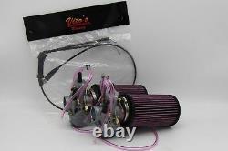 2 X Yamaha Banshee 34MM 34 Larger Carbs Carburetors Pwk + Cable + K+N Filter