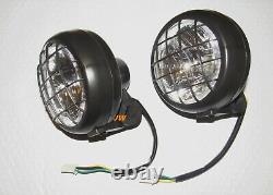 2 x Headlights for Yamaha Banshee 1987-2006 lens bulbs lights grills Warrior 350