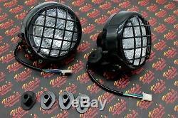 2 x NEW Headlights Yamaha Banshee lens bulbs lights grills 1996-2001 + COLLARS