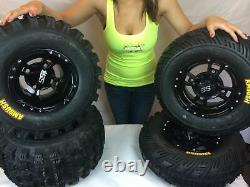 4 NEW Yamaha Banshee 350 ITP SS112 Black RIMS on CST Ambush Tires Wheels kit