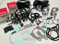 Banshee 350 Cylinders WISECO Pistons Crank Motor Rebuild Pro Design Cool Head