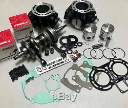 Banshee 350 OEM Bore Cylinders Pistons WISECO Crank Motor Rebuild Kit Crankshaft