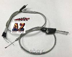 Banshee 350 Terry Steel Braided Dual Thumb Throttle & Clutch Cable PWK PJ Carbs