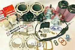 Banshee Top End Rebuild Carbs 64 mil Stock Bore Cylinders Carb Kit Wiseco Piston