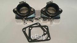 Billet Intake Manifolds Kit Stock 26mm 28mm Carbs Carburetors Yamaha Banshee 350