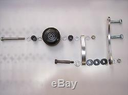 Chariot Chain Tensioner Yamaha Banshee 2 Hole Footpeg Roller BLACK