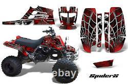 Creatorx Graphics For Yamaha Banshee 350 Fullbore Plastics Spiderx Red