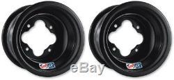 DWT Black A5 Rolled Lip Rear Wheels Rims 10 10x10 5+5 4/115 Banshee YFZ Raptor