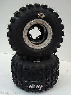 DWT G3 Beadlock Rims GBC XC Master Tires Front/Rear XC Kit Yamaha Banshee YFZ450