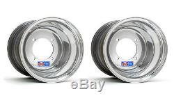 DWT Polished Rear Wheels Rims 9 9x9 4/115 Yamaha Raptor 700/660 YFZ450 Banshee