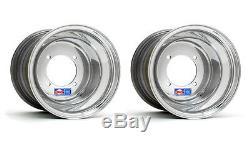 DWT Polished Rear Wheels Sport Blue 10 10x10 4/115 Yamaha Raptor YFZ450 Banshee
