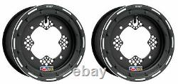 DWT ROK'N LOCK 2 Front Black Beadlock Rims 10 4/156 4+1 Yamaha YFZ450R Banshee