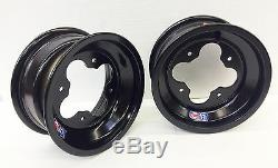 Dwt Black A5 4+1 Front Aluminum Wheels Rims Yamaha Yfz450 Banshee Raptor 700 660