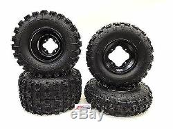 Gbc XC Master Tires + Dwt A5 Black Rims Front/rear Yamaha Yfz450 Banshee Raptor