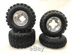 Gbc XC Master Tires Dwt A5 Polished Rims Front/rear Yamaha Yfz450 Banshee Raptor