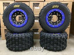 Hiper CF1 Beadlock Rims ITP Holeshot MXR6 Tires Front/Rear MX Kit Yamaha Banshee