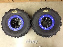 Hiper CF1 Beadlock Rims ITP Holeshot MXR6 Tires Rear MX Yamaha Banshee 350 YFZ