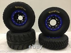 Hiper CF1 Beadlock Wheels Speedracer Street Tires Front/Rear Kit Yamaha Banshee