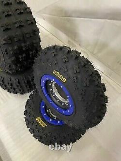 Hiper Tech 3 Beadlock Wheels ITP GNCC XC Tires Front/Rear Kit Yamaha YFZ Banshee