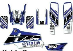 Kit Graphics for YAMAHA BANSHEE 350, KIT decals, stickers, GRAPHICS blue 1