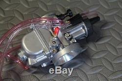 NEW 2 x 35mm carburetors carbs + throttle cable Banshee + pod filters + intakes