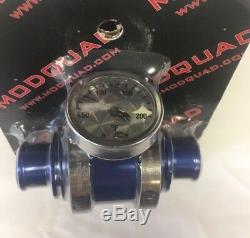 NEW Inline billet temp temperature gauge BLUE Yamaha Banshee 350 YFZ350 atv