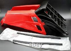 NEW Vito's 87-06 Yamaha Banshee plastic gas tank side covers + grill RED BLACK
