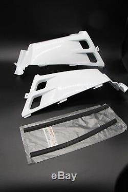 NEW Vito's Yamaha Banshee plastic gas tank side covers + grill 1987-2006 WHITE