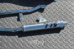 NEW Yamaha Banshee CHROME Toomey Racing T6 Pipes + T-6 silencers 1987-2006