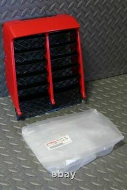 NEW Yamaha Banshee plastic OEM factory radiator cover grill RED 1987-2006