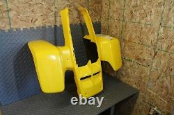 NEW factory OEM 1987-2006 Yamaha Banshee fenders plastic body YELLOW front only