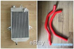 New RED Aluminum Radiator & Hose For ATV YAMAHA banshee YFZ350 YFZ 350 oversized