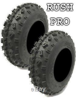 New Rush Pro ATV Tires (2) 21x7x10 (2) 20x11x9 6 Ply Yamaha Banshee/Raptor 350