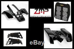 New Yamaha Banshee Yfz 350 Black Complete Plastic Set Fender Kit Front And Rear