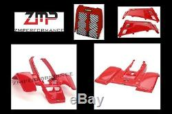 New Yamaha Banshee Yfz 350 Red Complete Plastic Set Fender Kit Front And Rear