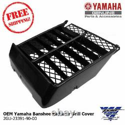 OEM 1987-06 Yamaha Banshee Radiator Cover Grill YFZ 350 Black 2GU-23391-90-00
