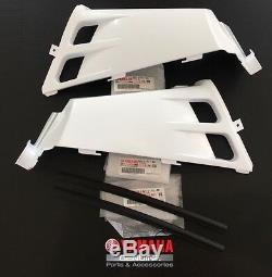 OEM Yamaha Banshee gas tank panels plastic fenders covers WHITE / molding liner