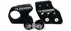 TM Designworks Slide N Guide Kit Black Chain Guide Kit Yamaha Banshee 350
