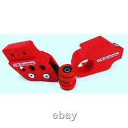 TM Designworks Slide N Guide Kit Red Chain Guide Kit Yamaha Banshee 350