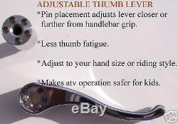 Thumb Throttle Yamaha Banshee Chariot Complete Chrome up to 49 mm carb