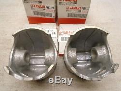 Two new OEM Yamaha 1st o/s pistons & rings 64.25mm YFZ350 Banshee piston ring pr