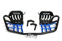 XFR Yamaha Banshee Pro Peg FOOT PEG Nerf bars HEEL GUARD PSE203-HGB GLOSS BLACK