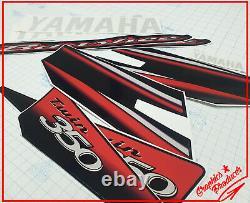 Yamaha Banshee 2003 Model Red Decals Graphics Black Fenders Custom Premium Vinyl