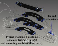 Yamaha Banshee A-arms & Shocks Widening & Lowering Kit