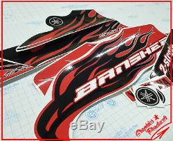 Yamaha Banshee Decals 2007 Red Model Full Set Graphics OEM Fenders Premium Vinyl