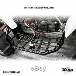 Yamaha Banshee YFZ 350 Nerf Bars Pro Peg Alba Racing Black Blue 207-T7-BL
