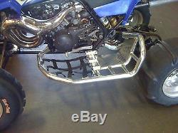 Yamaha Banshee YFZ 350 Nerf Bars Pro Peg Alba Racing Silver Blue 207 T7 SL