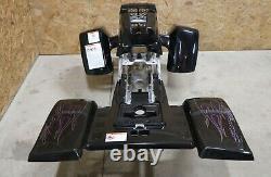 Yamaha Banshee fenders + gas tank plastic + grill + graphics BLACK FLAMES 2006